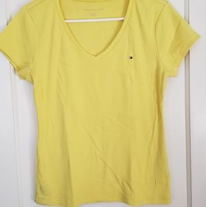 Tops - Tommy Hilfiger Yellow V neck shirt